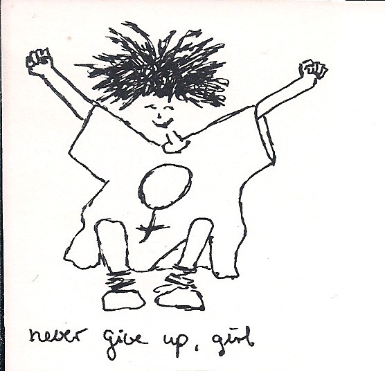 never give up girl